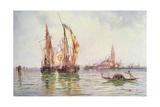 Fishing Boats Near San Giorgio Maggiore  Venice