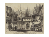 A Street in Constantinople  with the Fountain and Mosque of Sultan Achmet