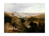 Evening View on Heaton Dene  Lancashire  from an Eminence Near Mable's Mill  1831
