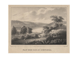 Flat Rock Dam  on Schuykill  Engraved by Moses Swett  1827