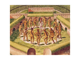 Dancing around a Captive before the Hut Containing the Tamerkas or Idols