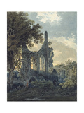 Byland Abbey  Yorkshire  C1793 (Watercolour Touched with Black Ink over Indications in Graphite)
