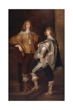 Lords John and Bernard Stuart  after Anthony Van Dyck  C1760-70