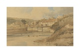 Sandsend  Yorkshire  1802 (W/C over Graphite on Textured Wove Paper Laid Down on Card)
