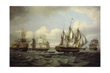 The Ship Castor and Other Vessels in Choppy Sea  1802