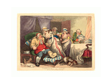 Comfort in the Gout  1785  Hand-Colored Etching  Rosenwald Collection