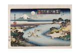 Autumn Moon  Tama River'  from the Series 'Eight Views of Famous Places'