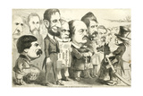 May the Best Man Win! Uncle Sam Reviewing the Army of Candidates  1864