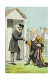Goodbye to Judge Clark  from 'St Stephen's Review Presentation Cartoon'  8 Dec 1888