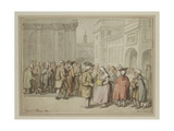 A Group Sketched at Rome (Pen and Reddish-Brown Ink and Watercolour over Indications in Graphite)