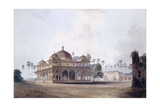 The Mausoleum of Makhdum Shah Daulat  Maner  Bihar  C1788-1796 (Pencil  Pen and Grey Ink  W/C)