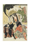 Scene from the Akbuki Play Yukimotsutake Furisode Genji  1785