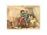 A Cully Pillaged  Probably 1784 1785  Hand-Colored Etching