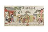 Sudden Shower at the Mimeguri Shrine  1787