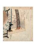Koto to Eko  Koto and Robe Stand [Between 1830 and 1835]  1 Print : Woodcut  Color ; 209 X 181