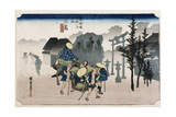 Morning Mist at Mishima'  from the Series 'The Fifty-Three Stations of the Tokaido'  C1834