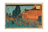 Shiba Sinmeisha Nai No Zu Precinct of Shiba Shinmei Shrine Hiroshige