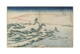 New Year's Day Sunrise at Susaki in Snow  Mid 19th Century