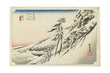Kameyama--Clear Weather after Snow  C1833