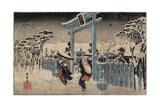 Gion Shrine in Snow  C 1834