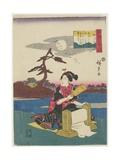 Pounding Silk in Settsu Province  1843-1847