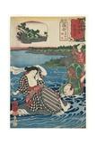 Ochiai: Kume Sennin and the Laundress  1852