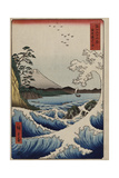 The Sea Off Satta in Suruga Province'  from the Series 'The Thirty-Six Views of Mt Fuji'