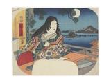 Lady Murasaki at Ishiyamadera Temple  1847-1848