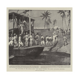 The Evacuation of the Atbara Camp  the Sirdar Watching the Ninth Soudanese Embarking