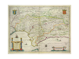Map of Andalusia  Spain  1634