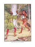 Robin Hood and Guy of Gisborne  C1920
