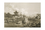 Chinese Barges of the Embassy Passing Through a Sluice of the Grand Canal