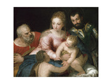 The Holy Family with the Young St John the Baptist and St George  Early 1550S