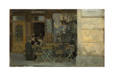 Cafe in Dieppe  C 1884-5