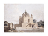 The Mausoleum of Sultan Parviz  Near Allahabad (Pencil  Pen and Black Ink  W/C)