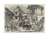 The Bazaar  Oodipoor  Rajpootana