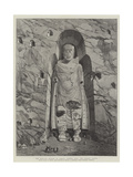 The Rock-Cut Statues of Bamian  Central Asia  the Largest Statue