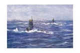 Submarines in the Channel  1915