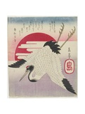 Flying Crane  Rising Sun  Mid 19th Century