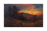 An Autumnal Sunset on the Russian River  1878