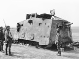 A German Tank Captured by the 26th Battalion at Monument Wood Near Villers-Bretonneux on 14 July 19