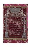 A Rare German Jewelled Parochet (Torah Ark Curtain)