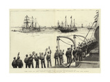 The Visit of the French Fleet  the Review as Spithead by H M the Queen