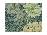 William Morris Wallpaper Sample with Chrysanthemum  1877