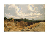 Gravel Pit on Shotover Hill  Near Oxford  C 1818