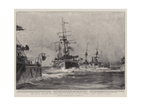 The Naval Review Off Kingstown in Honour of the Queen's Visit  Steam Tactics