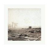 American Civil War: View on Battle Field of Antietam Where Sumner's Corps Charged the Enemy Scene