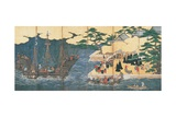 Arrival of the Southern Barbarians (Portuguese Traders at Nagasaki)