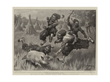 The Allies in China  Zouaves Chasing their Dinner at Shan-Hai-Quan