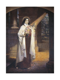 Close-Up of a Mural of St Therese of Lisieux